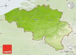 map and belgium physical map of belgium lighten