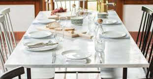 best placemats for marble table the best size and shape for a dining table 7 we love