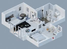 Apartment Designs Shown With Rendered D Floor Plans - Apartment designs