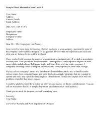 Sample Diesel Mechanic Resume by Generator Mechanic Sample Resume Circulation Clerk Cover Letter