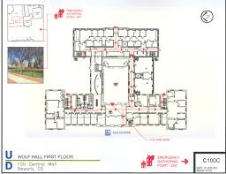 Udel Campus Map Evacuation Plan Environmental Health U0026 Safety University Of