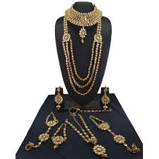 indian bridal necklace sets images Indian bridal jewelry kundan set in high gold polish at rs 4505 jpg
