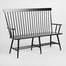 black wood kamron high back windsor bench world market