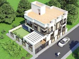 proposed two storey house with top view home design pakistan house front elevation 16