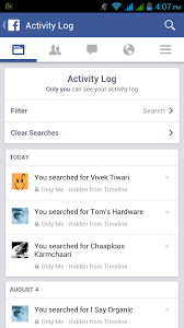 android log clear activity log in android