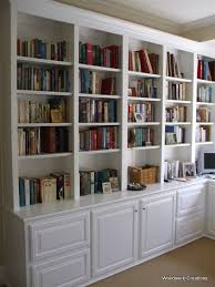 Bookcase With Cupboard Built In Bookshelves With Cabinets Don U0027t Know How Much Of That