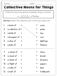 Noun Worksheet Kindergarten Free Collective Noun Worksheet Fun With Literacy My Tpt
