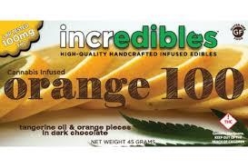 incredibles edibles incredibles orange bar cannabis chocolate