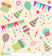 seamless background with party stuff stock photo image 33102040