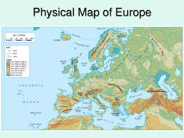 europe phisical map physical geography of europe