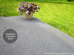 Stain Concrete Patio by Design Megillah Staining A Concrete Patio
