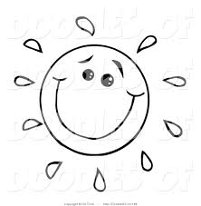 sun cartoon black and white clip art library