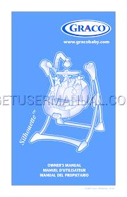 graco baby swing silhouette swing isps061aa user u0027s manual download