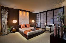 Asian Wall Decor Designs Ideas Small Luxury Bedroom With Comfy Bed And Blue Bench