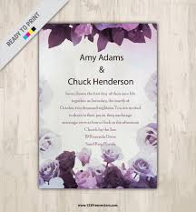 watercolor flower wedding invitation card design 123freevectors