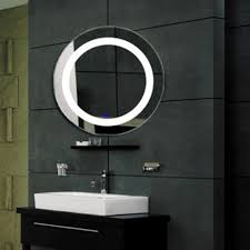 modern led lighted wall mounted vanity mirror round shape