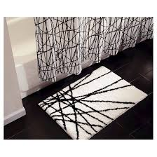 Gray And White Bathroom Rugs Abstract Bath Rug 21x34