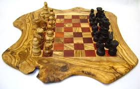 wood board game handmade wooden rustic chess set medium red 15 7