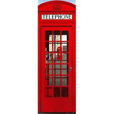 telephone booth london telephone booth door poster 21x62 18589