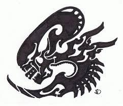 tribal alien head tattoo stencil photo 12 2017 real photo