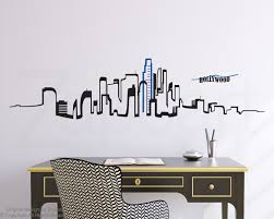 los angeles skyline wall vinyl decal los angeles skyline