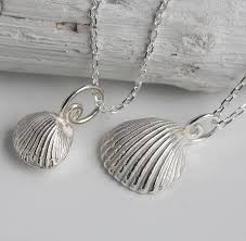 black shell necklace images Sterling silver clam shell necklace by caroline brook jpg