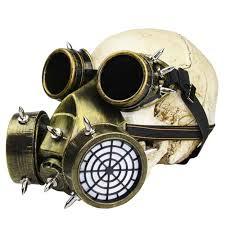 gas mask costume retro bronze metallics rivet resin steunk gas mask and goggles