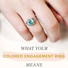 wedding engagement rings colored engagement rings meaning brides