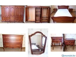 miroir chambre chambre merisier lit commode tables de nuit miroir a