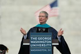 tim cook to college grads don t spend your on the sidelines