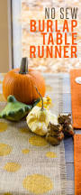 thanksgiving diy projects no sew burlap table runner wholefully