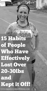 15 healthy habits of people who have lost weight