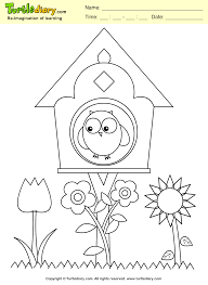 bird house coloring sheet turtle diary