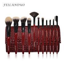 professional makeup tools feilanduo 11pcs professional makeup brush set high quality pbt