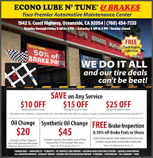 Check Engine Light Oil Change View Econo Lube N U0027 Tune U0026 Brakes Coupons For Oil Change Brake