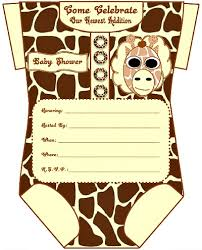 baby shower giraffe giraffe baby shower invitations template ba shower invitation