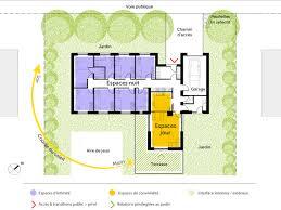 plan de maison de plain pied avec 4 chambres interieur maison plain pied avec plan maison 6 chambres plain pied 8