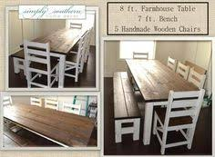 Southern Home Decor Dark Walnut Stained Farmhouse Table With Handmade X Back Chairs
