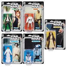 set of 5 hsc1688a star wars black series action figure 40th