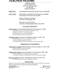 sle resume for career change objective sle objective teaching resume unusual science teacher httpwww
