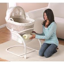 Babies R Us Mini Crib by Babies R Us Keep Me Near Bassinet With Moses Basket Cream Taupe
