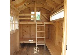 trophy amish cabins llc 10 x 20 bunkhouse cabinshown in the cottage bunkhouse plans house plans