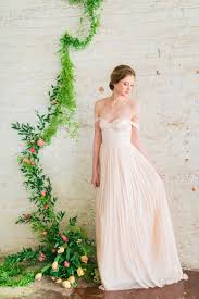 off the shoulder wedding dress blush pink wedding dress silk