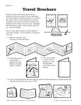 travel brochure template for students travel brochure teachervision