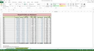Create A Spreadsheet In Excel How To Create A Profit And Loss Statement In Excel 2 P U0026l