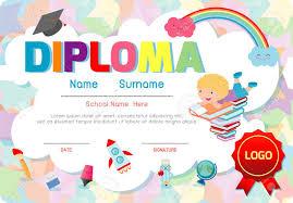 kindergarten certificates certificates kindergarten and elementary preschool kids diploma