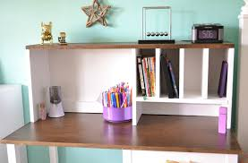 Desk Hutch Ideas Diy Desk Hutch With Free Plans From White Desk Hutch