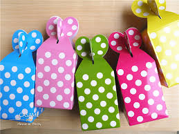 polka dot boxes high quality free shipping paper gift box for children diy candy box
