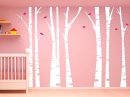 trees birch trees page 1 innovativestencils birch tree forest set vinyl wall decal birds 1295