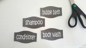 diy repurposed shampoo bottles with free printable labels simple